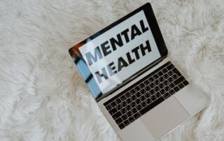 Computer screen that says Mental Health