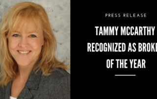 Tammy Mccarthy recognized as insurance business broker of the year