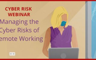 managing cyber risk of remote work woman with mask on