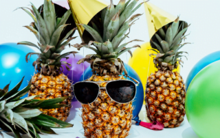 party pineapples with sunglasses covid isolation