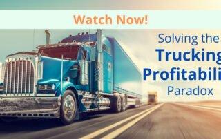 solving trucking profitability paradox transport truck