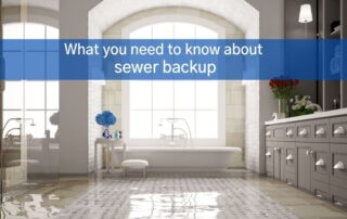 bathroom sewer backup in Ontario