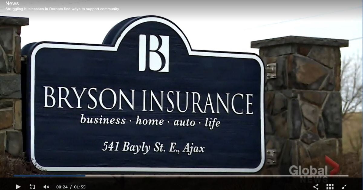 Bryson Insurance on Global News