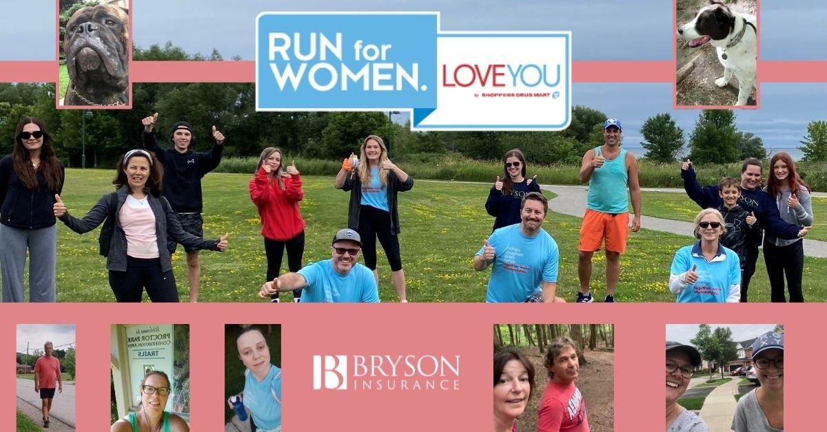 Team Bryson at the 2021 Run for Women