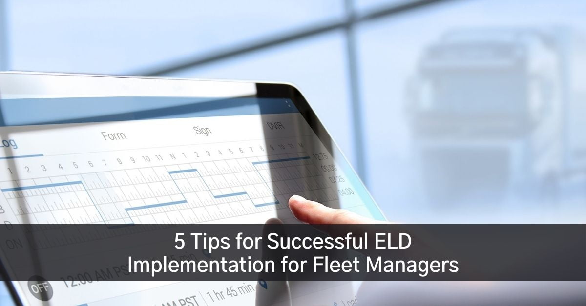 Fleet Manager checking ELD in Ontario for trucking company